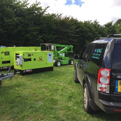 Site Temporary Set Up for Charity Clay Shoot
